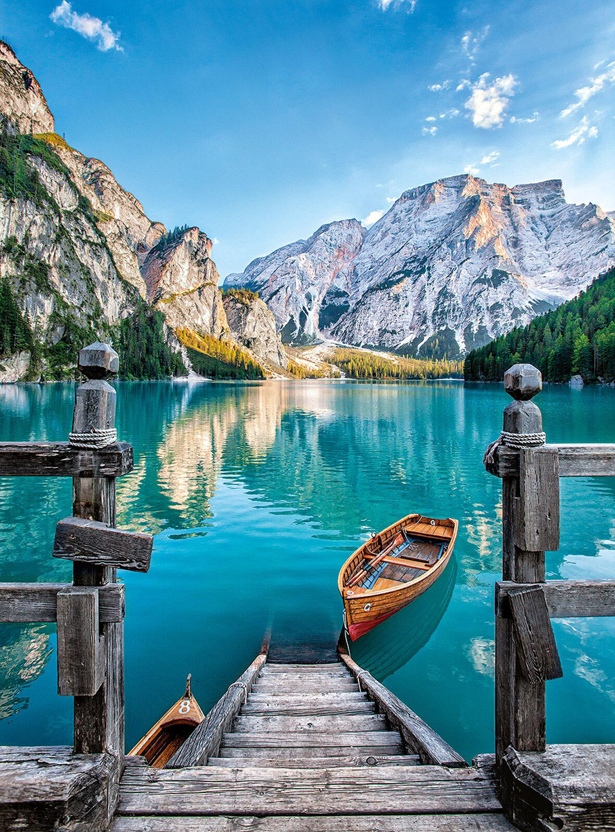 Braies Lake Mountains Jigsaw Puzzle