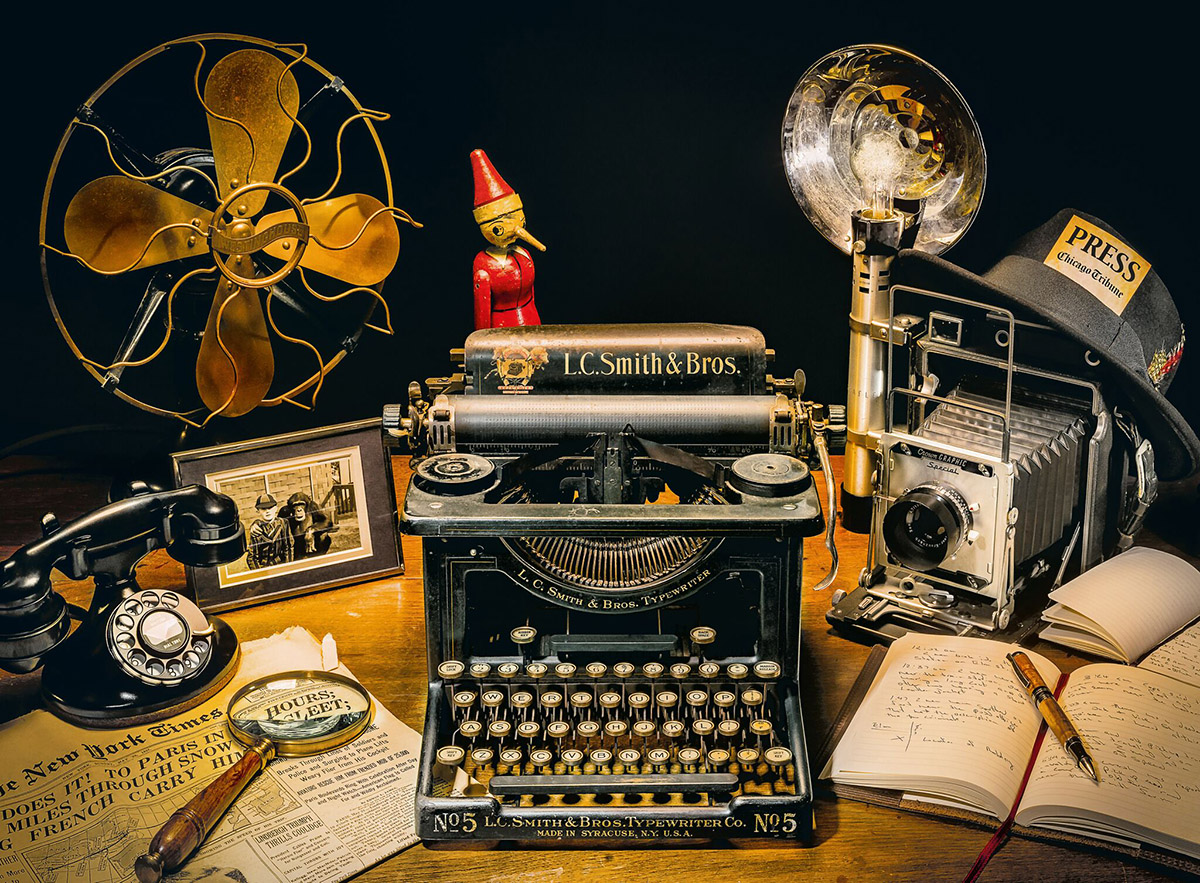 The Typewriter Everyday Objects Jigsaw Puzzle