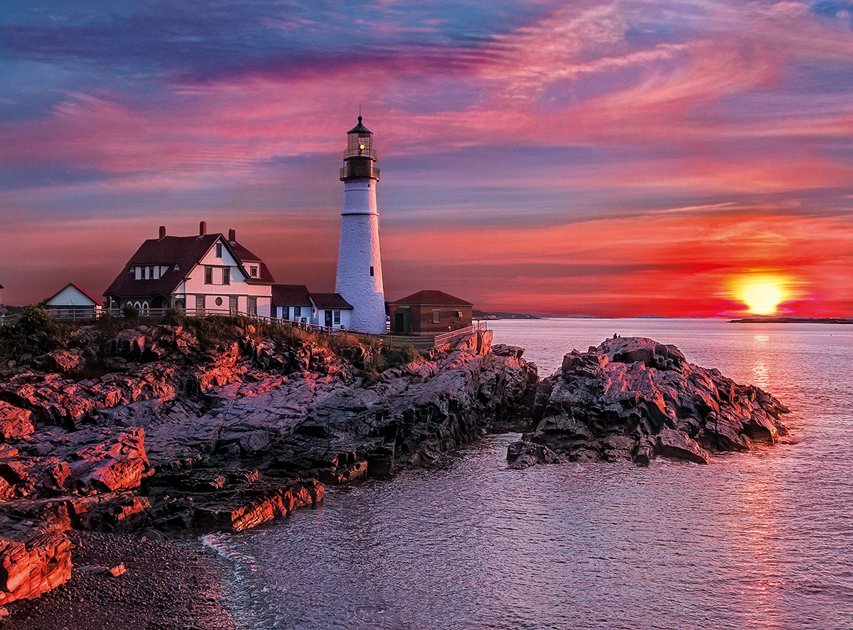 Portland Light Head Lighthouse Lighthouses Jigsaw Puzzle