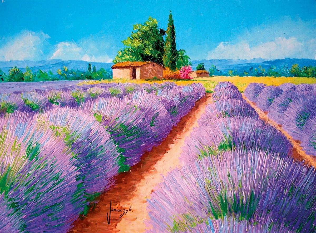 Lavender Scent Flowers Jigsaw Puzzle