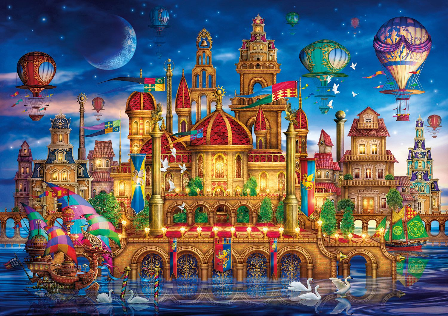 Downtown Fantasy Jigsaw Puzzle