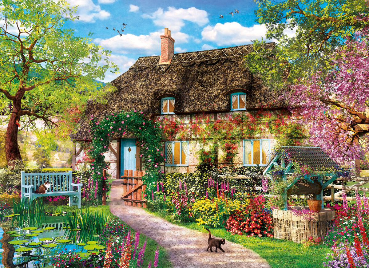 The Old Cottage Garden Jigsaw Puzzle