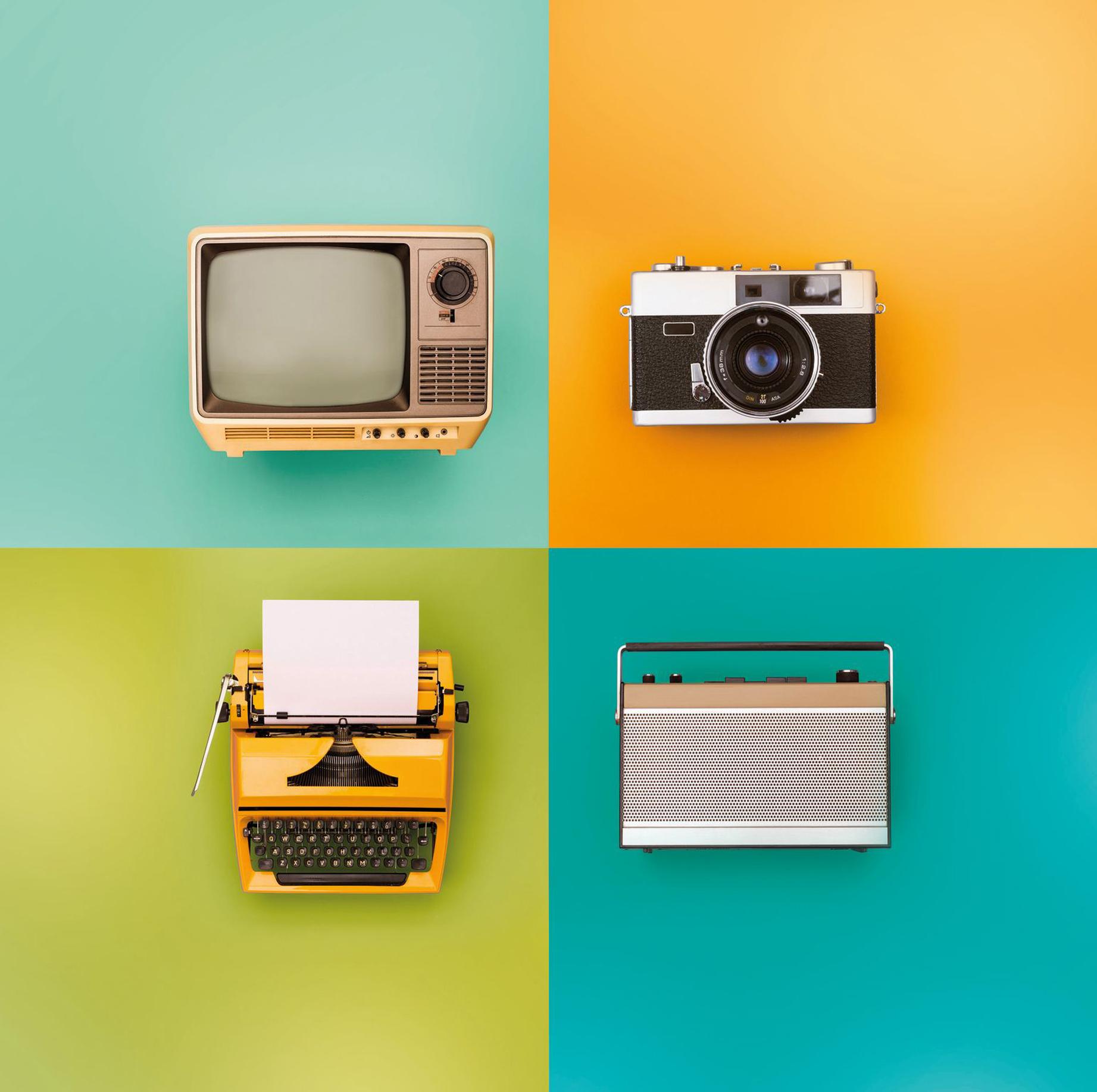 Vintage Electronics Everyday Objects Jigsaw Puzzle