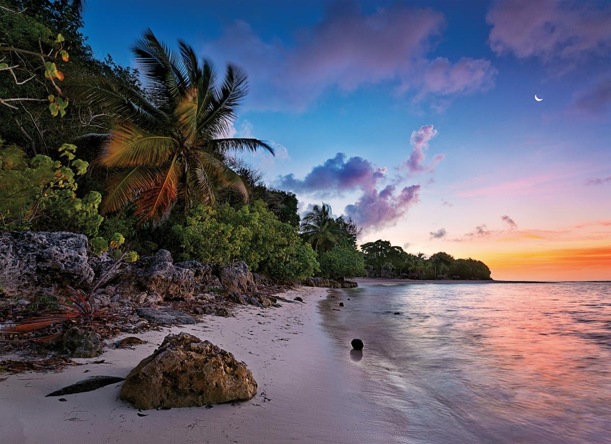 Tropical Idyll Beach Jigsaw Puzzle