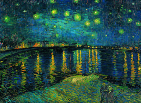 Starry Night on the Rhone Fine Art Jigsaw Puzzle