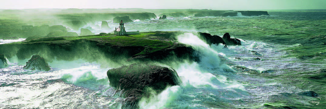 Blast of Wind on the Pointe des Poulains - Scratch and Dent Lighthouses Jigsaw Puzzle