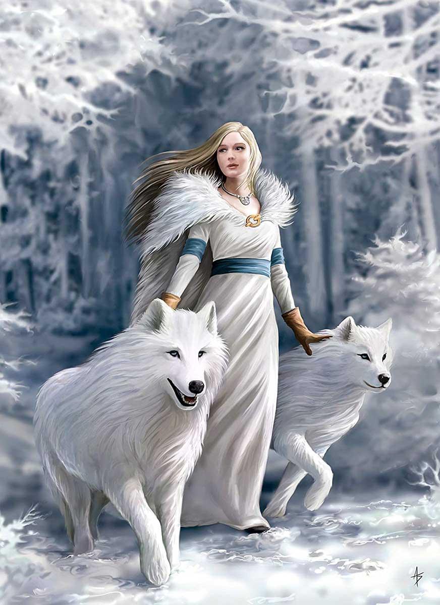 Winter Guardians Wolves Jigsaw Puzzle
