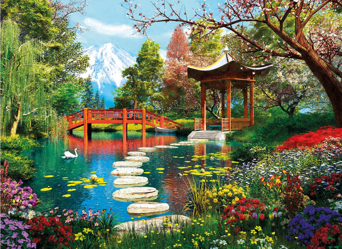 Fuji Garden Garden Jigsaw Puzzle