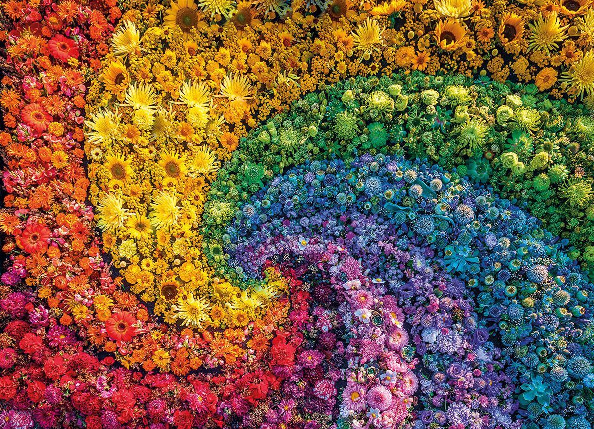 Whirl Flowers Jigsaw Puzzle
