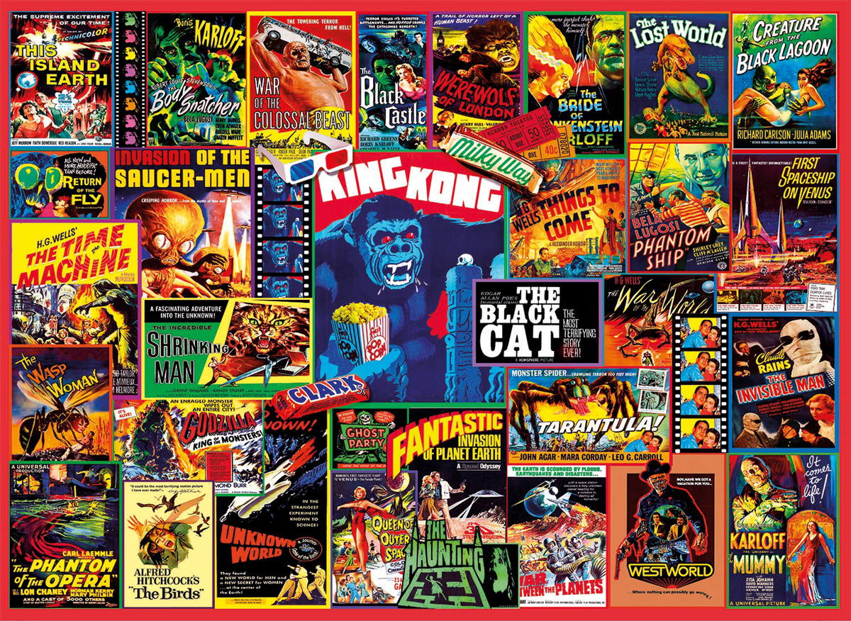 Thriller Classics Movies / Books / TV Jigsaw Puzzle