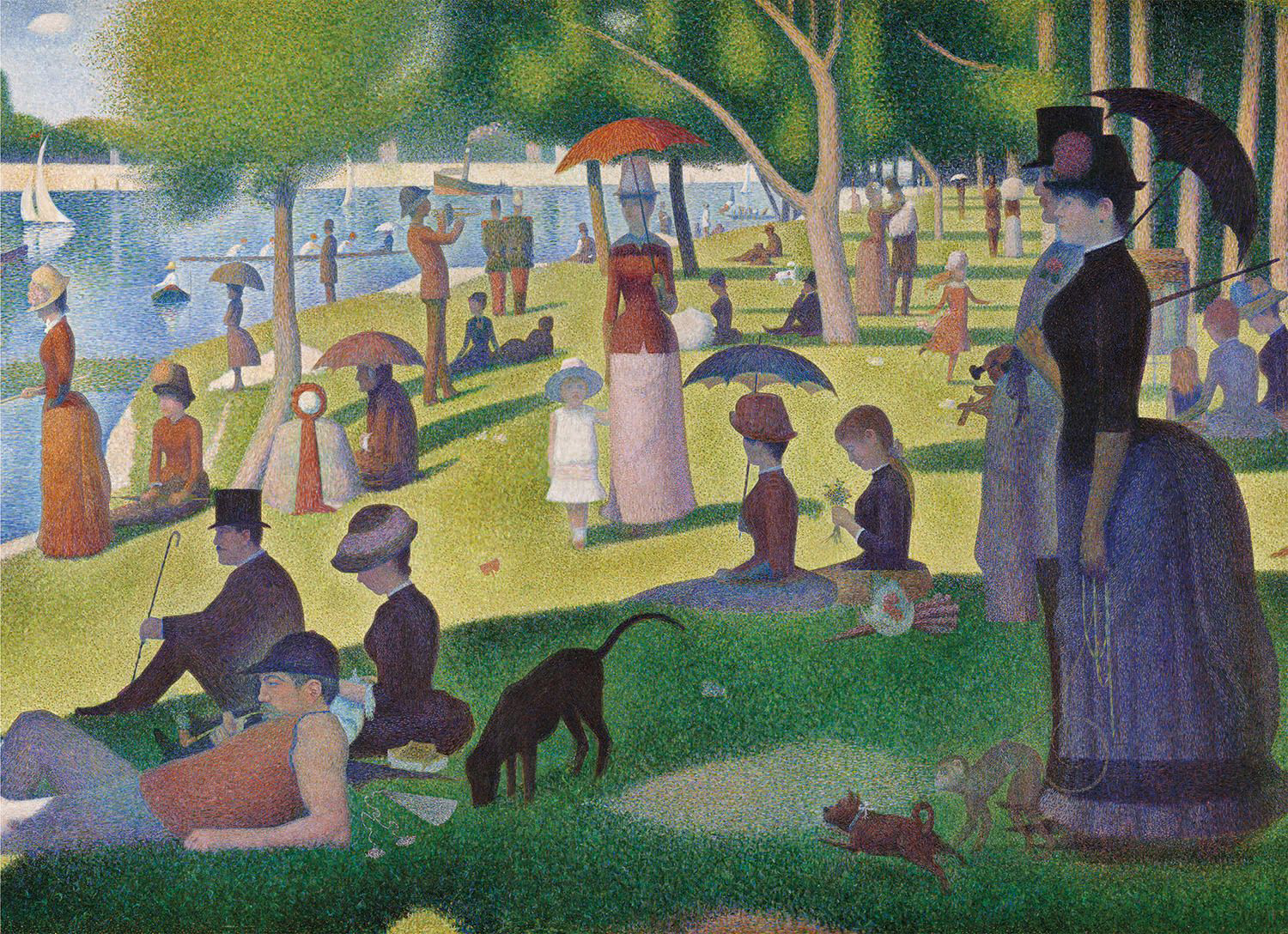 A Sunday Afternoon on the Island of La Grande Jatte Fine Art Jigsaw Puzzle