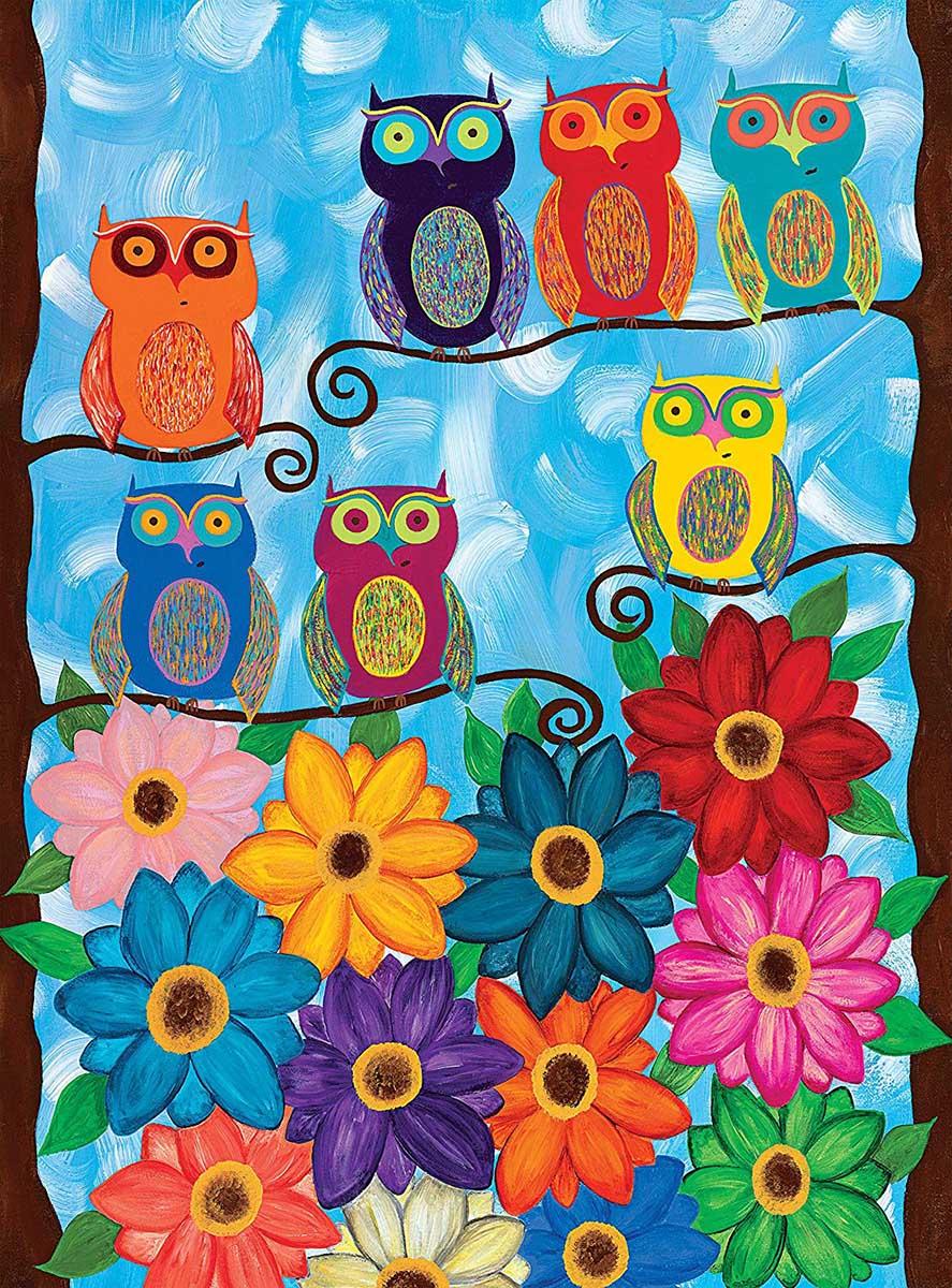 Cute Little Owls Birds Jigsaw Puzzle