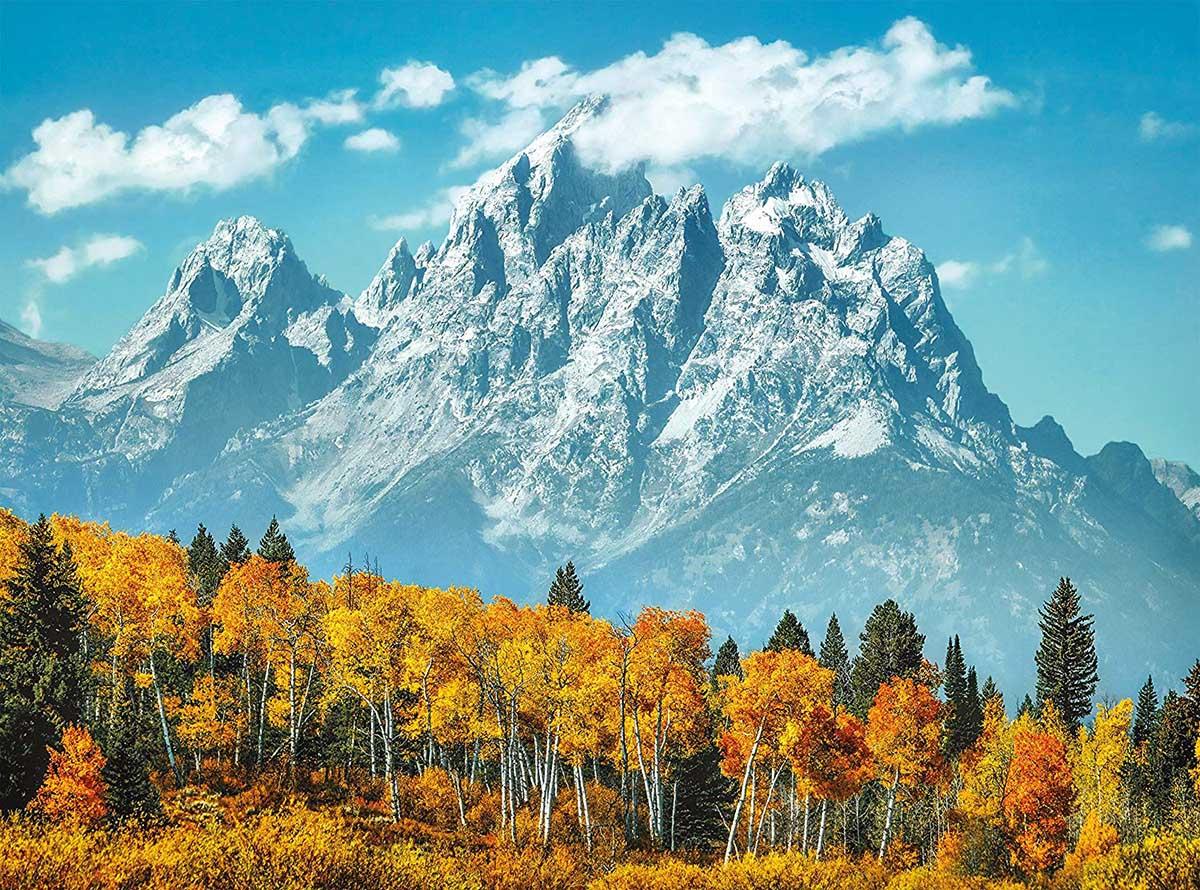 Grand Teton in Fall Mountains Jigsaw Puzzle