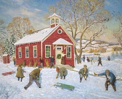 The Olde Country School Winter Jigsaw Puzzle
