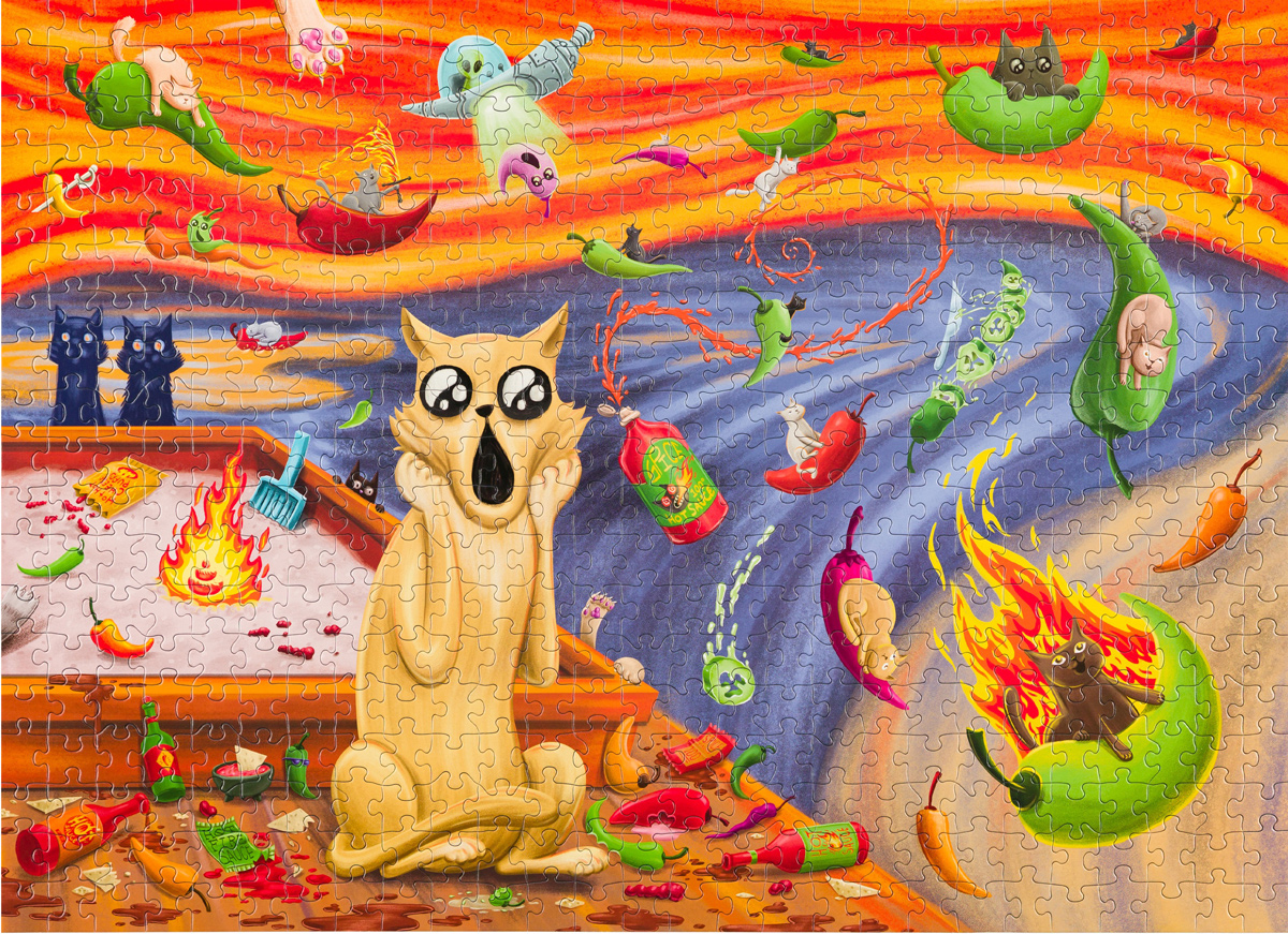 Spicy Scream Cats Jigsaw Puzzle