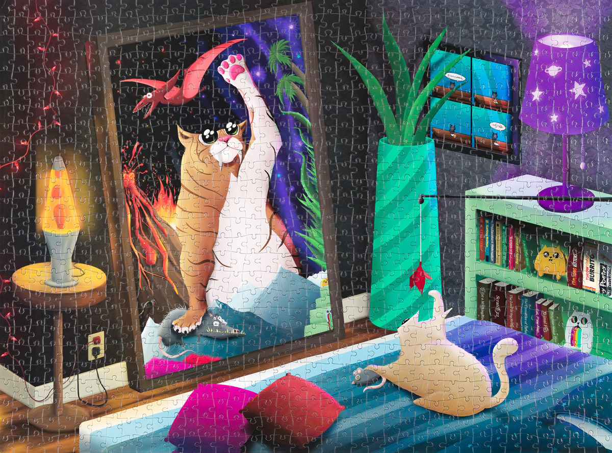 Cat In The Mirror Cats Jigsaw Puzzle