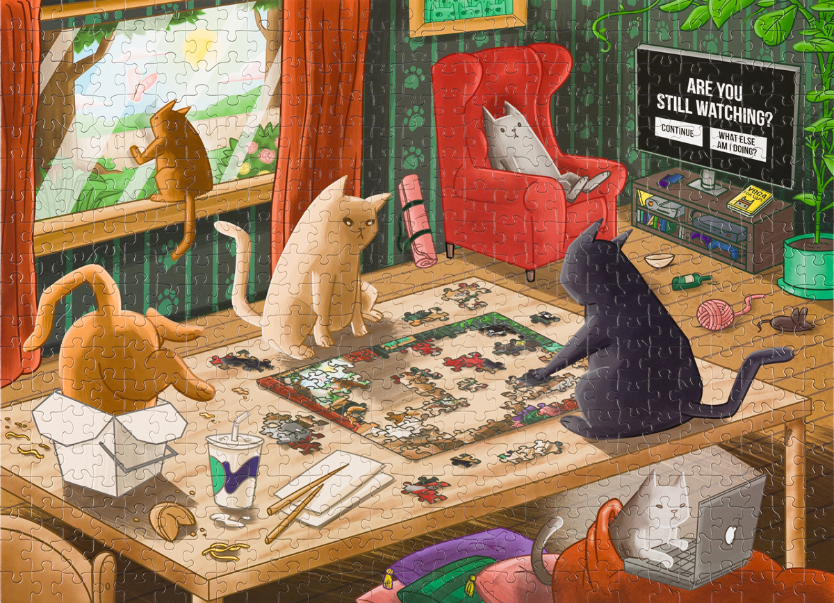 Cats In Quarantine Cats Jigsaw Puzzle