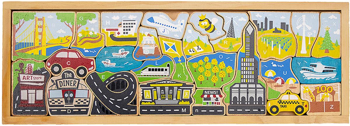 City A to Z Puzzle Educational Children's Puzzles