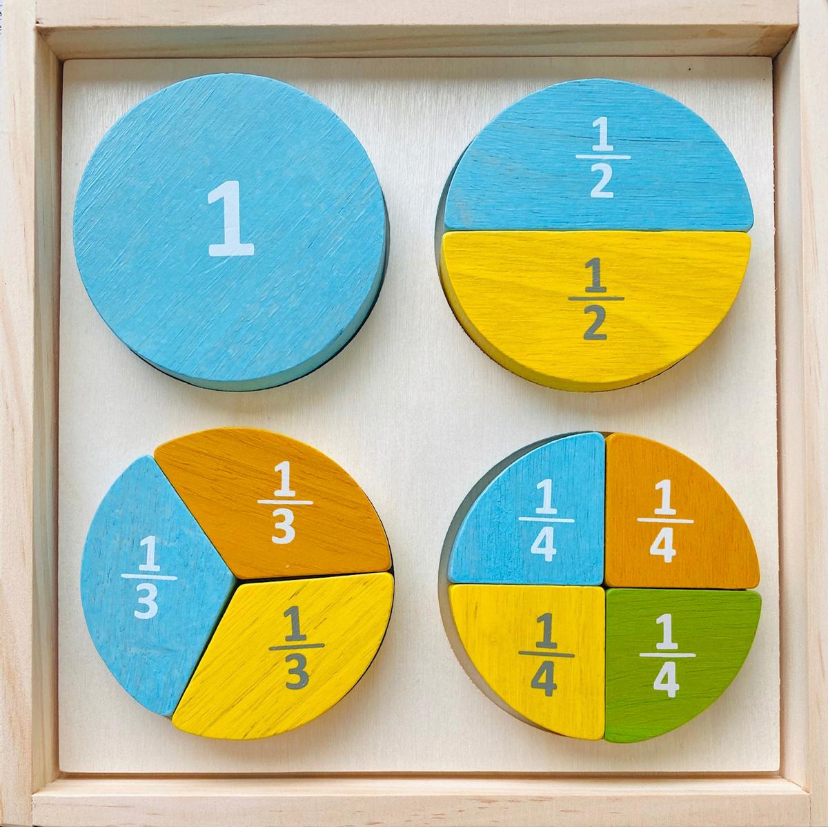 Fraction Puzzle Educational Children's Puzzles
