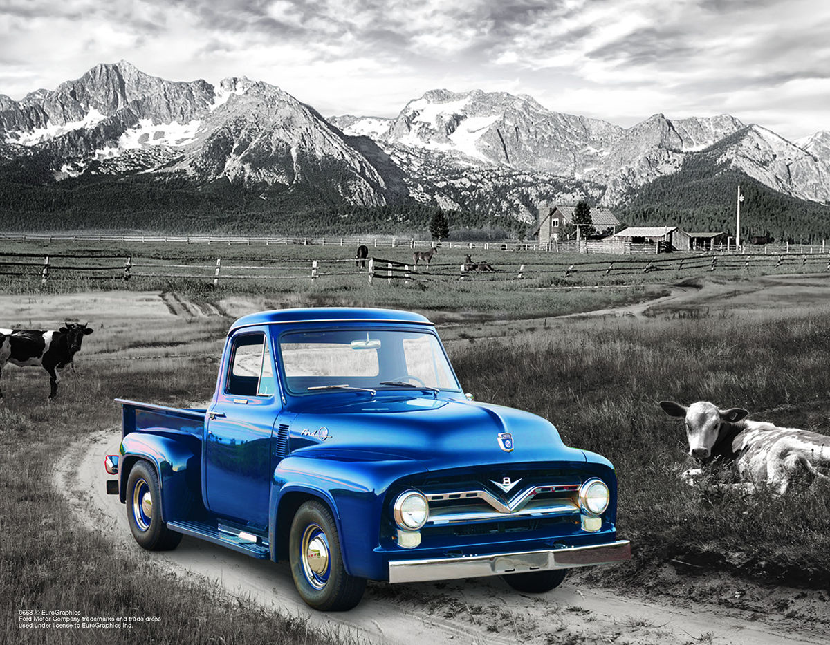 1954 Ford F100 Jigsaw Puzzle Pickup Truck Cars