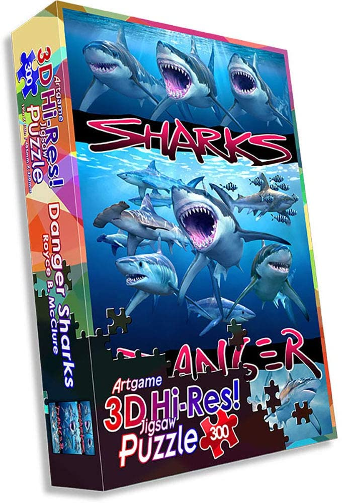 Danger Sharks Animals Jigsaw Puzzle