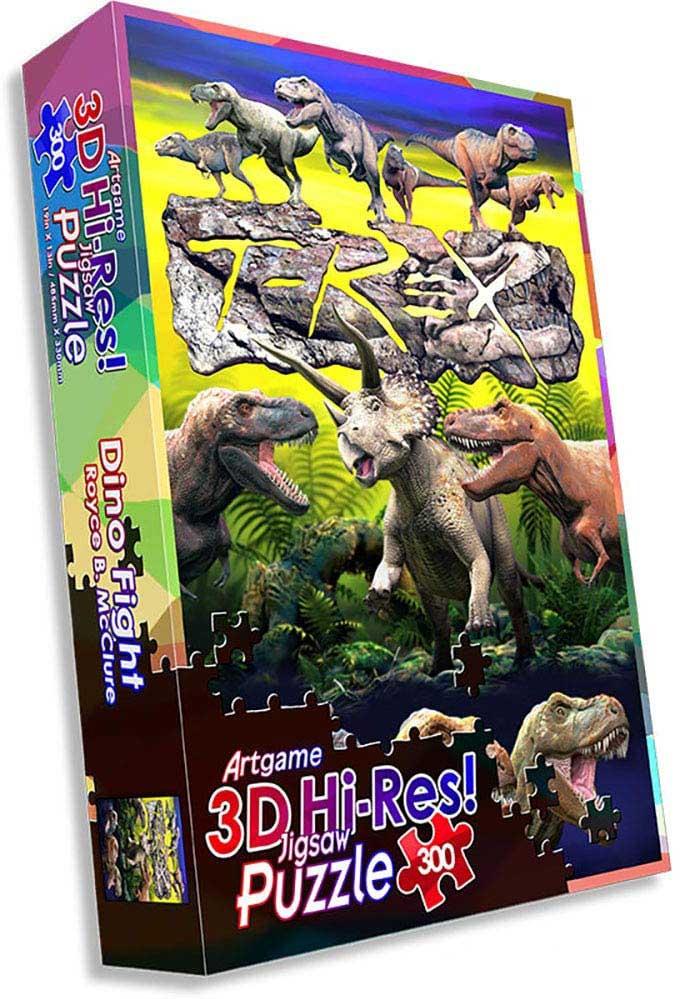 Dino Fight Dinosaurs Jigsaw Puzzle