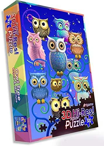 Owl Tree Owl Jigsaw Puzzle