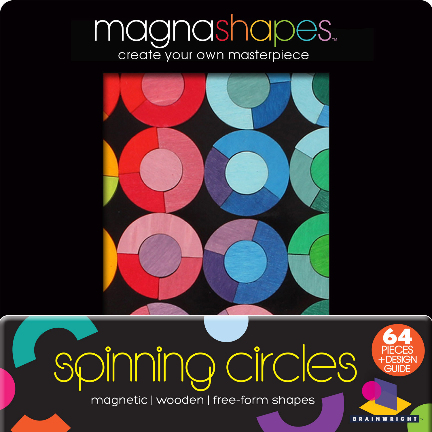 Spinning Circles (Magna Shapes) Graphics / Illustration Wooden Jigsaw Puzzle