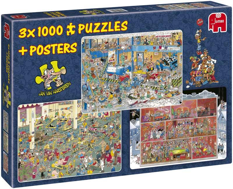 Jan van Haasteren 3-in-1 Cartoons Jigsaw Puzzle
