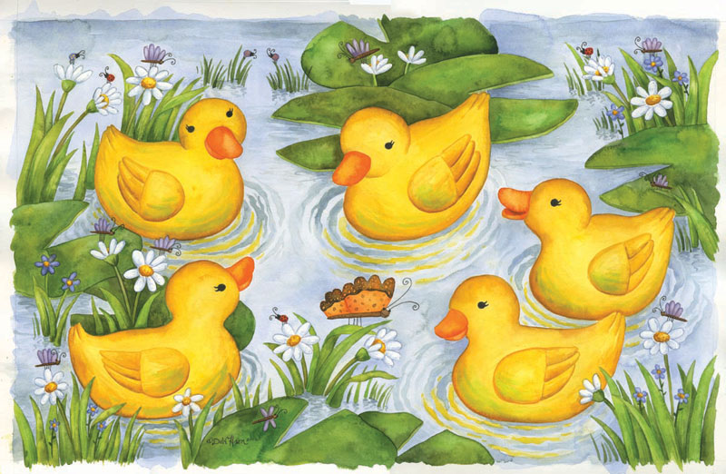 Rubber Duckies Everyday Objects Children's Puzzles