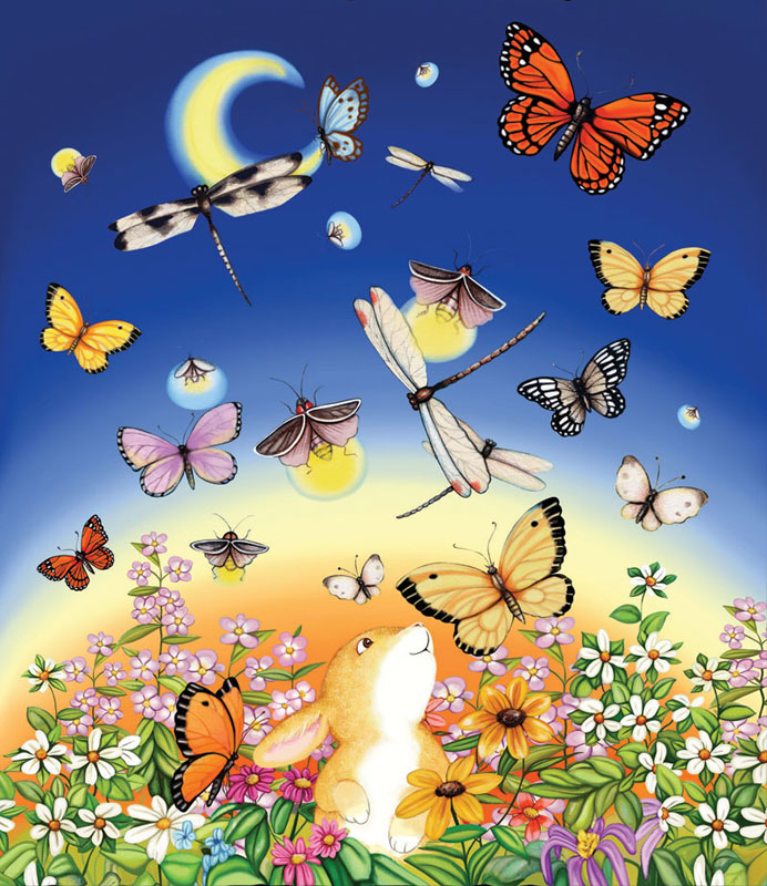 Firefly Dance Butterflies and Insects Jigsaw Puzzle