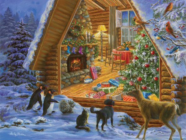 Looking In Christmas Jigsaw Puzzle