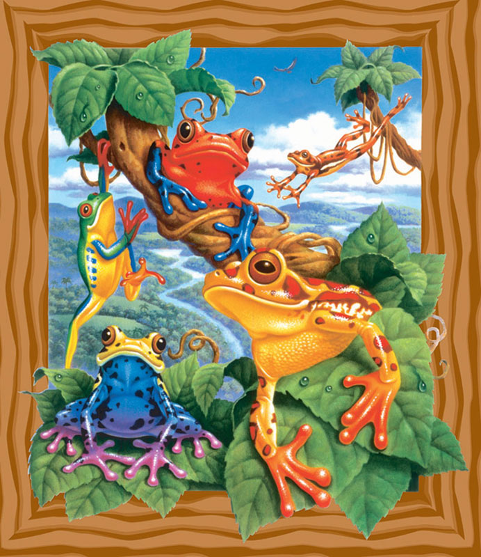 Frogs Lakes / Rivers / Streams Jigsaw Puzzle
