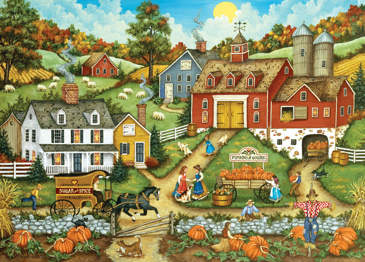 Picking the Perfect Pumpkin Fall Jigsaw Puzzle