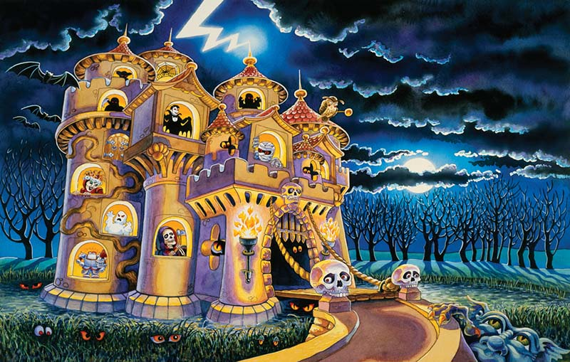 Haunted Castle Halloween Jigsaw Puzzle