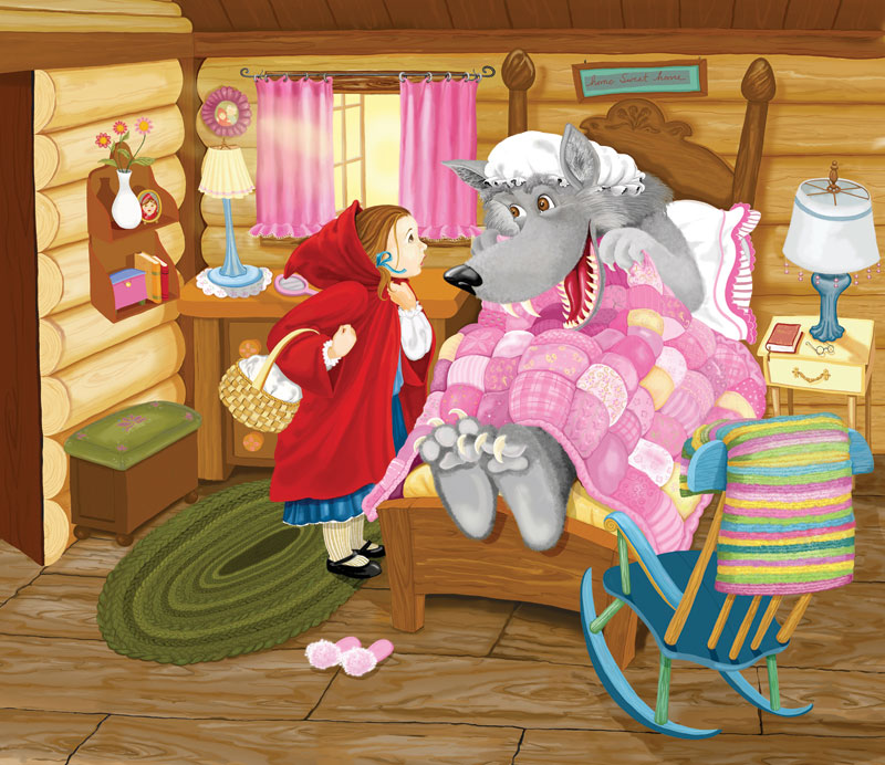 Little Red Riding Hood Cartoons Children's Puzzles