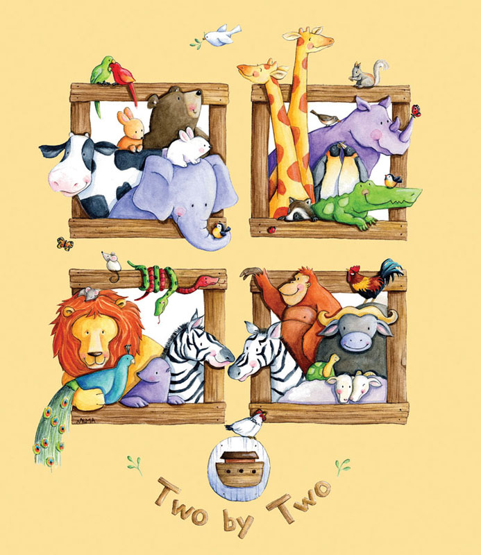 Scenes from the Ark Animals Jigsaw Puzzle
