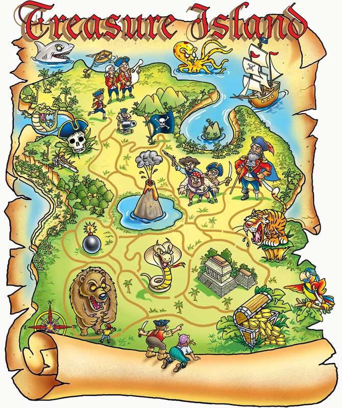 Treasure Map Fantasy Jigsaw Puzzle