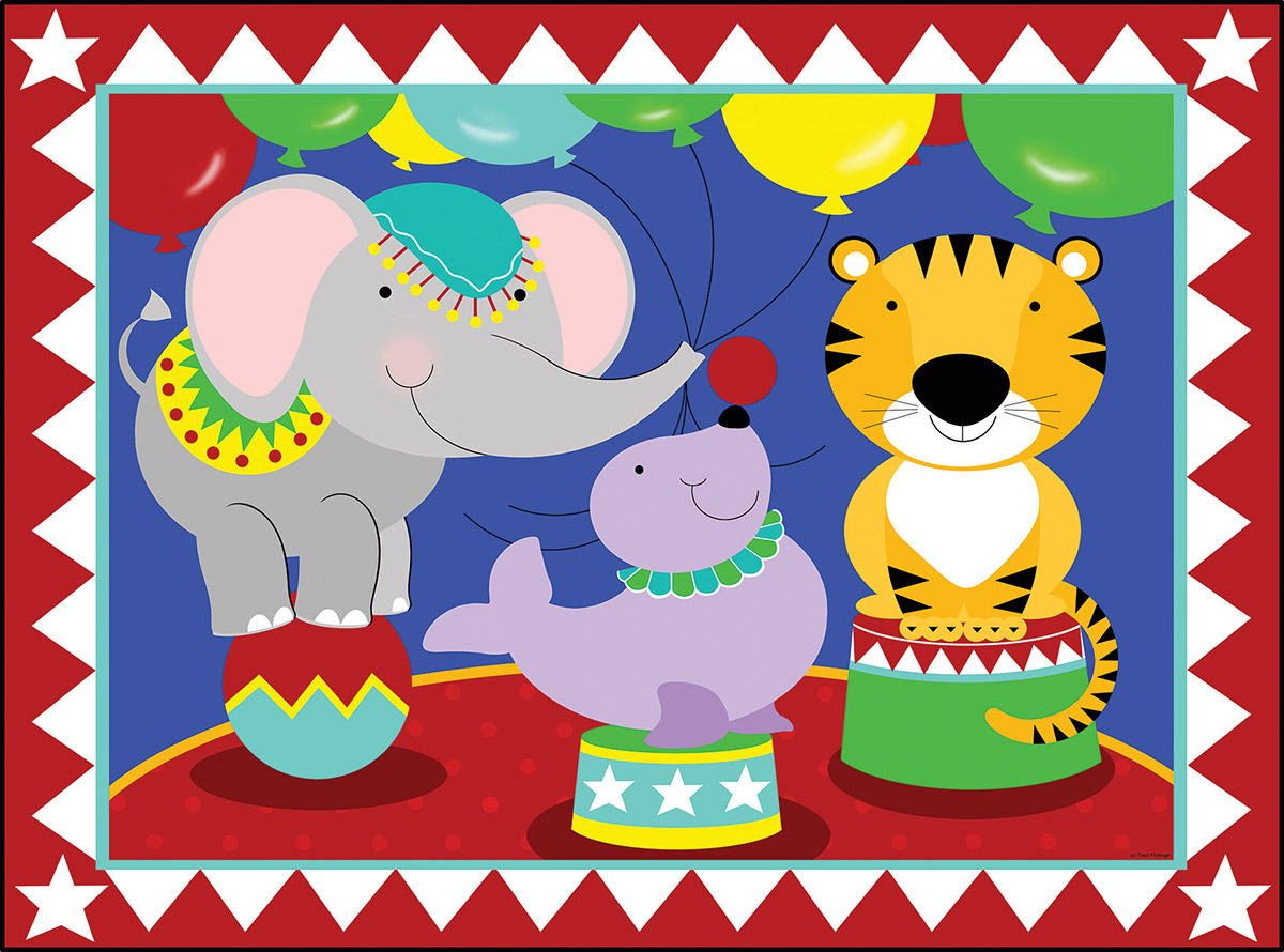 Birthday Circus - Scratch and Dent Tigers Jigsaw Puzzle