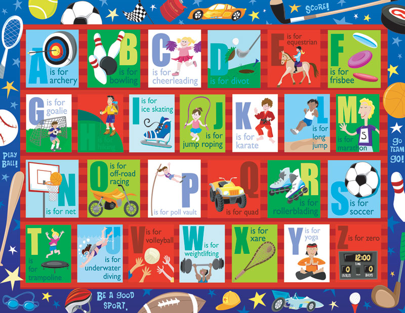 Into Sports Educational Jigsaw Puzzle