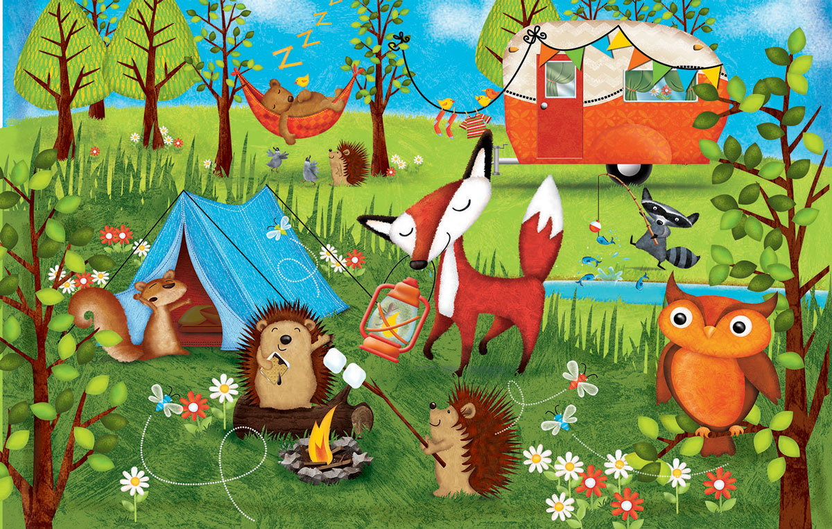 Happy Campers Animals Jigsaw Puzzle