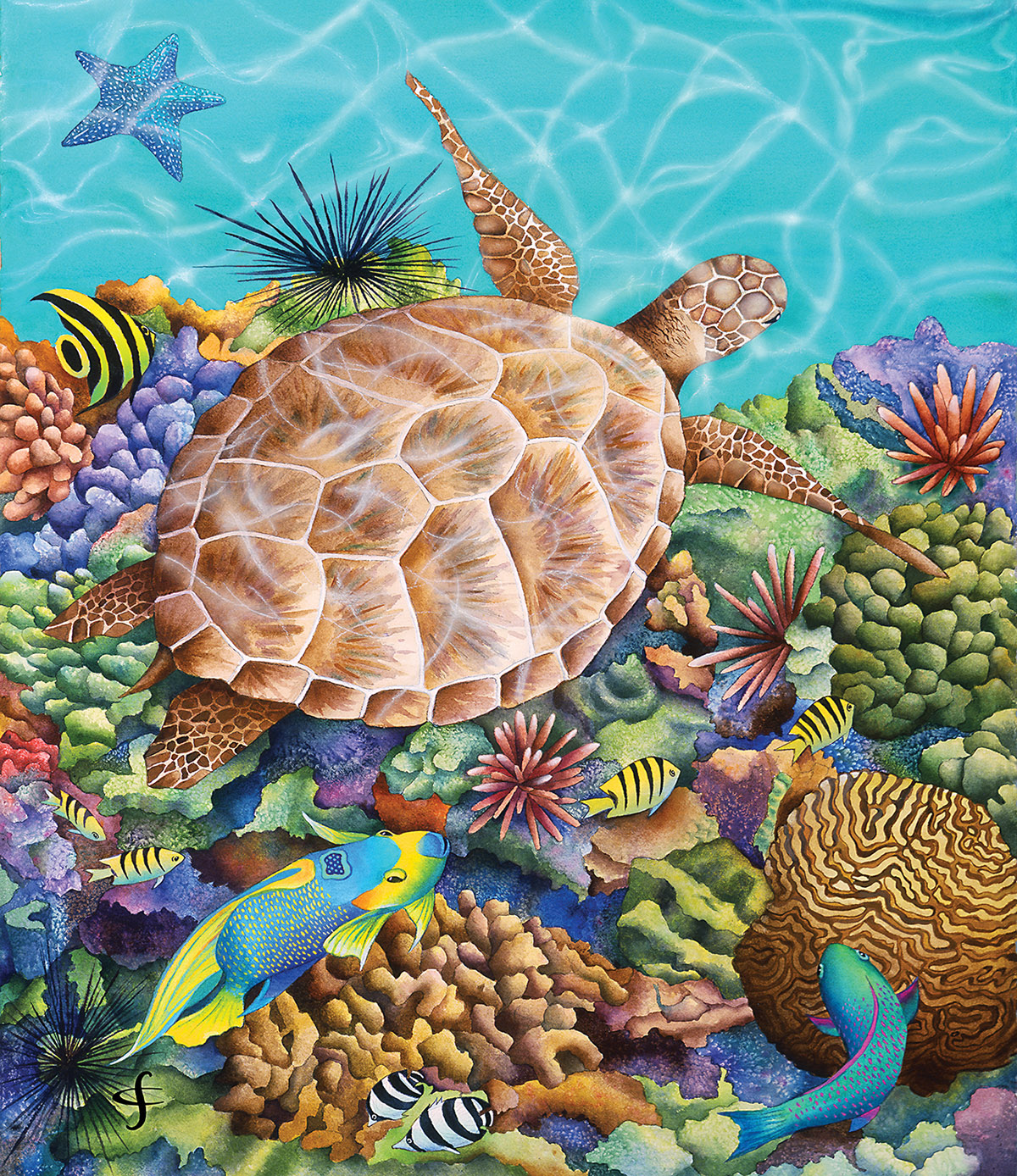 Turtle Pool - Scratch and Dent Under The Sea Jigsaw Puzzle