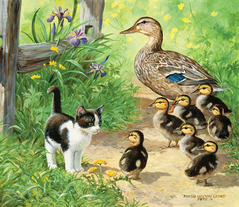 Duck Inspector Cats Jigsaw Puzzle