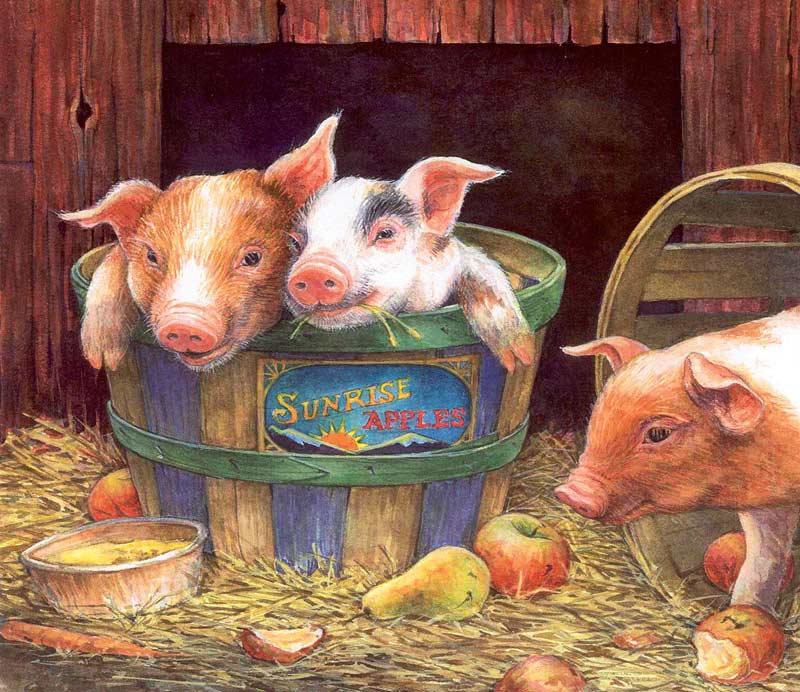 Three Pigs - 200 Farm Animals Jigsaw Puzzle