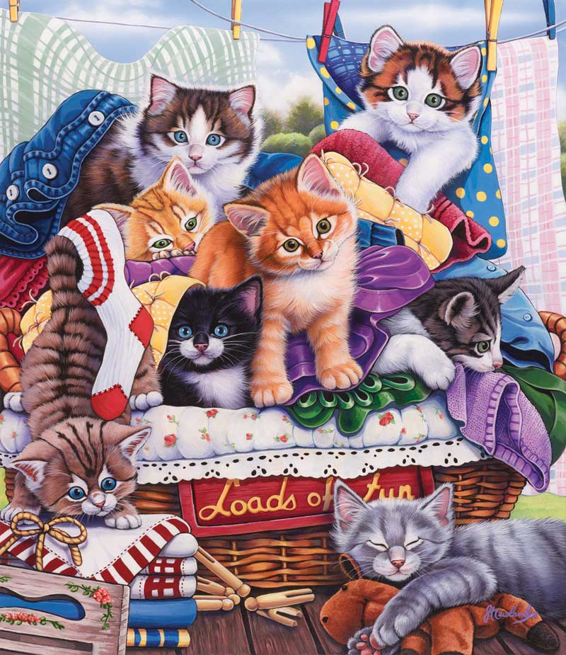 Laundry Time - Scratch and Dent Crafts & Textile Arts Jigsaw Puzzle