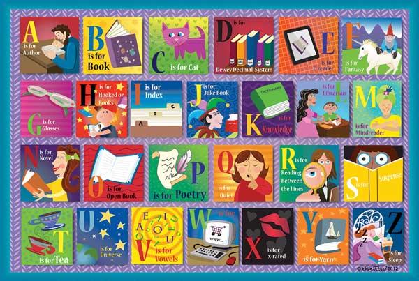 Reading Alphabet Educational Jigsaw Puzzle