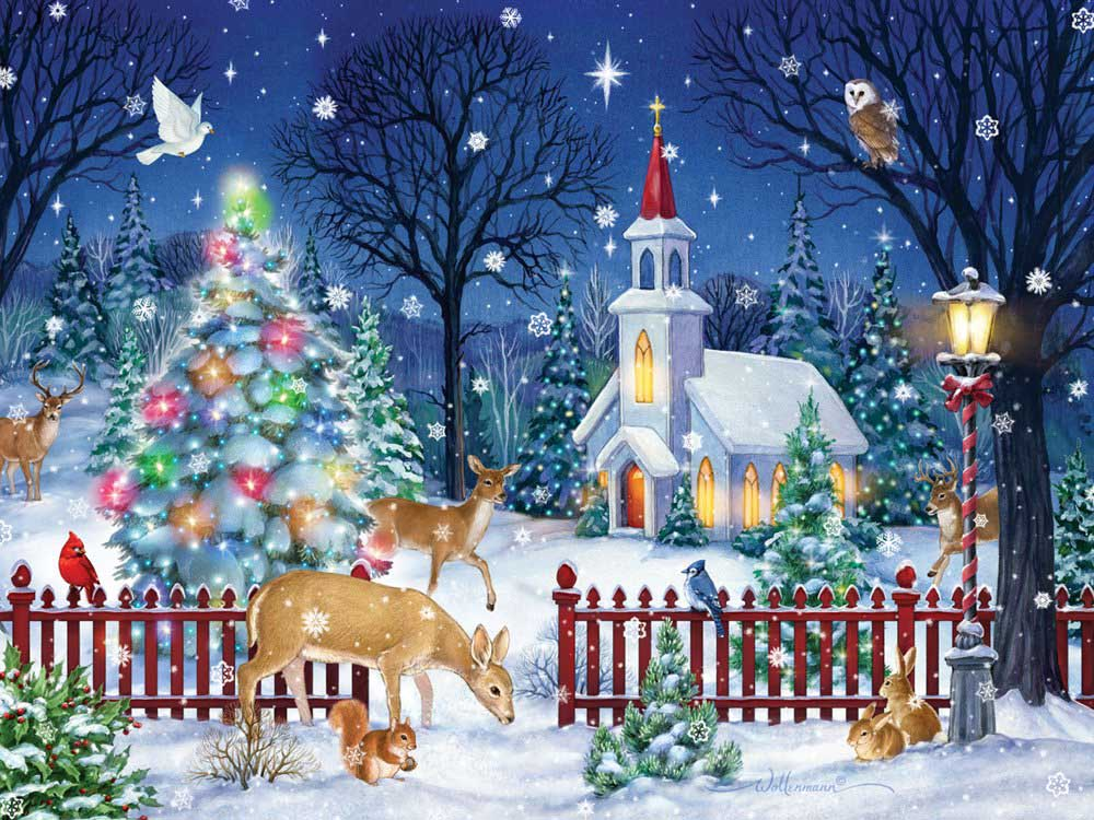 Peaceful Night Christmas Jigsaw Puzzle