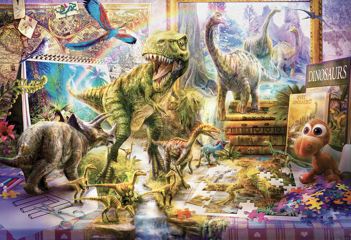 Dinosaurs Come to Life Dinosaurs Jigsaw Puzzle