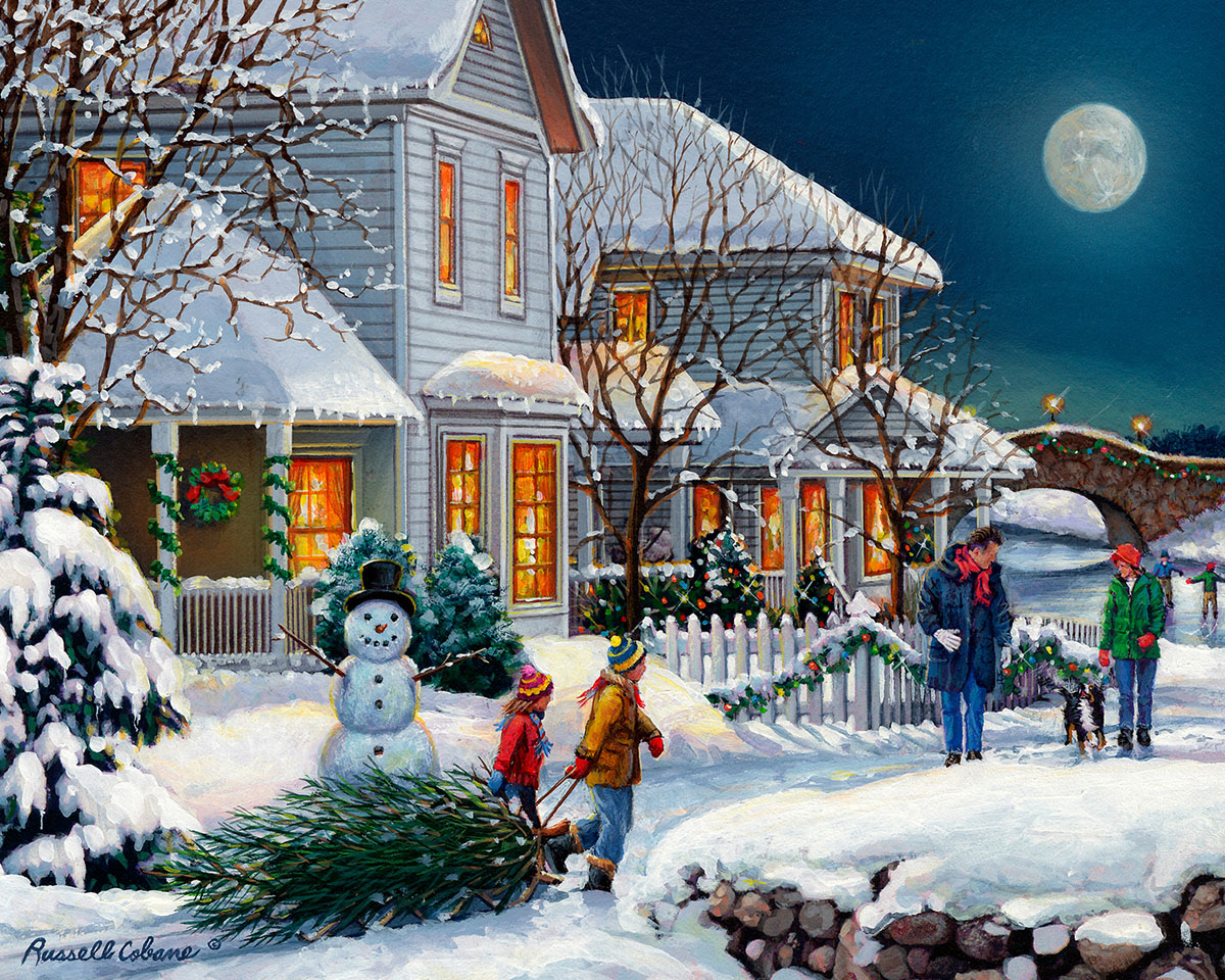 Holiday Walk Christmas Jigsaw Puzzle