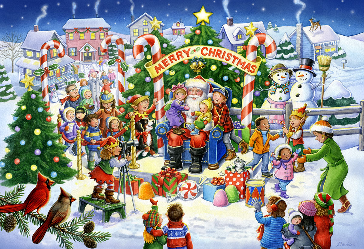 Smile for Santa Christmas Jigsaw Puzzle